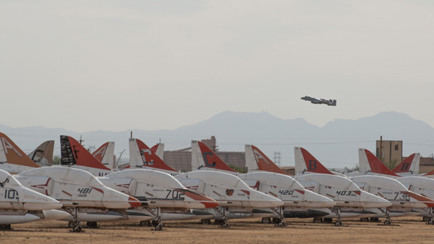 Davis-Monthan Air Force Base's 'Boneyard.'