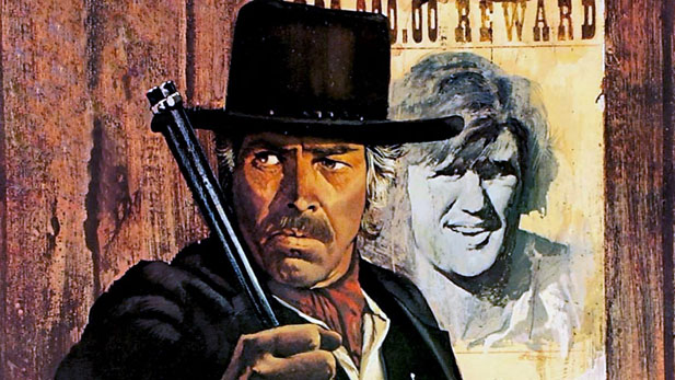 "James Coburn and Kris Kristofferson play the title roles in ""Pat Garrett and Billy the Kid"" from 1973"