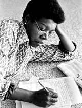 maya angelou writing portrait