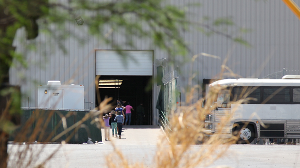 Immigrant children at Border Patrol's Nogales warehouse where they were processed and detained in June 2014.