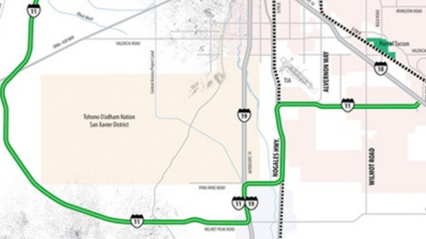 Pima County officials have proposed an I-11 route that would run west of Tucson, through Avra Valley.