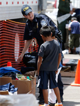 CBP Agent with child