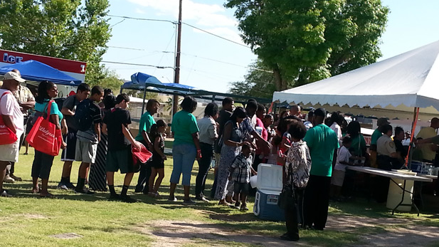 Crowd at Juneteenth SPT