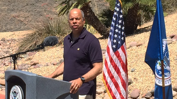 Homeland Security Sec. Jeh Johnson in Nogales spot