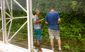 Biosphere 2 Summer Camp boys through glass fcs lrg