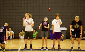 Basketball camp girls line up fcs lrg