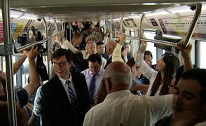 Streetcar crowd, 7-21-14