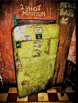 Door to mezcal bar in Cafe No Se
