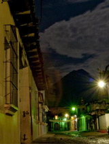Outside Cafe No Se volcano Antigua