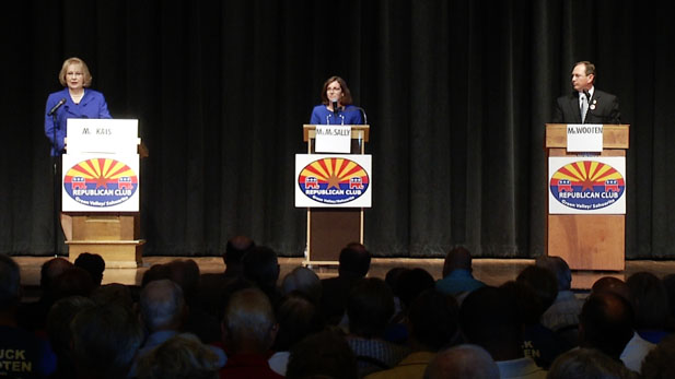 Republicans Shelley Kais, Martha McSally and Chuck Wooten are seeking the party's nomination in Congressional District 2.