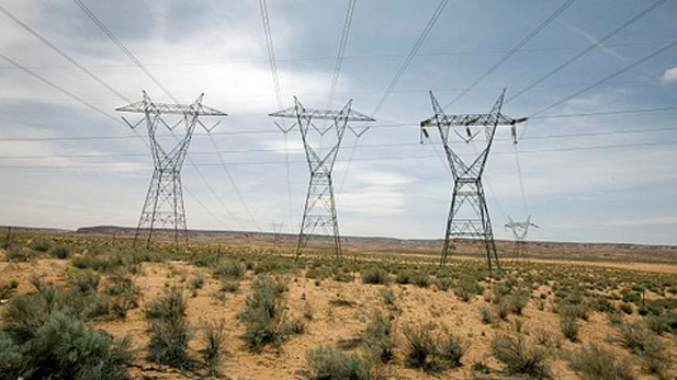 Power lines desert spot