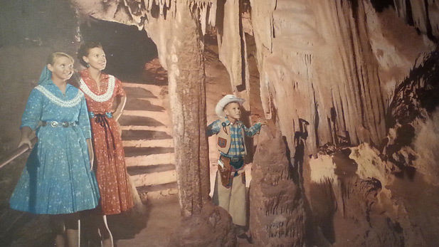 Colossal Cave visitors in mid-20th century
