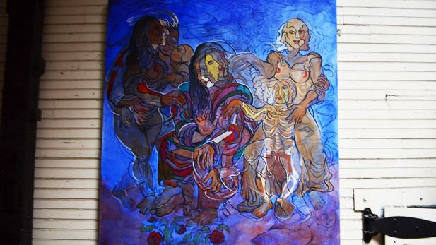 One of Duran's Paintings Hangs in Solar Culture