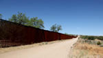 The border fence in Arizona.
