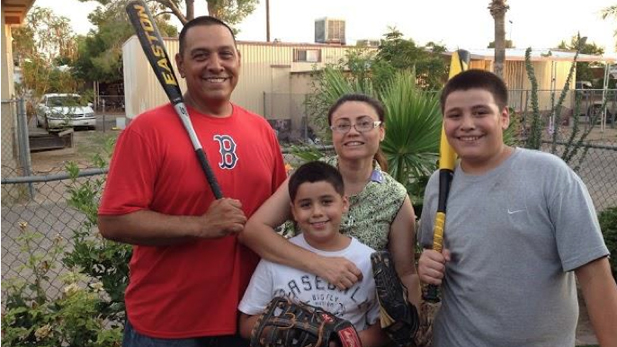 Rosa Robles Loreto with her husband Gerardo, and their sons Gerardo Jr. and Jose Emiliano.