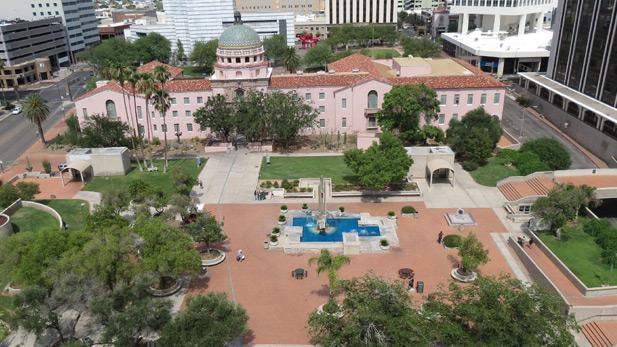 El Presidio Park and old Pima County Courthouse.