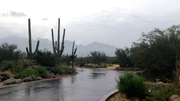 Rain at Stone Canyon, Northwest of Tucson