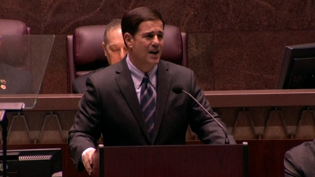 Gov. Doug Ducey delivers his first State of the State address, Jan. 12, 2015.