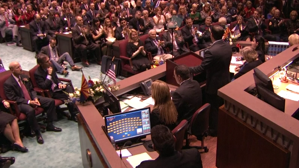 Ducey state of state back view spotlight