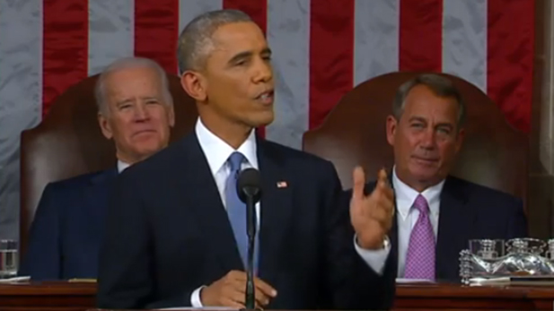 President Barack Obama delivers his 2015 State of the Union Address to congress.
