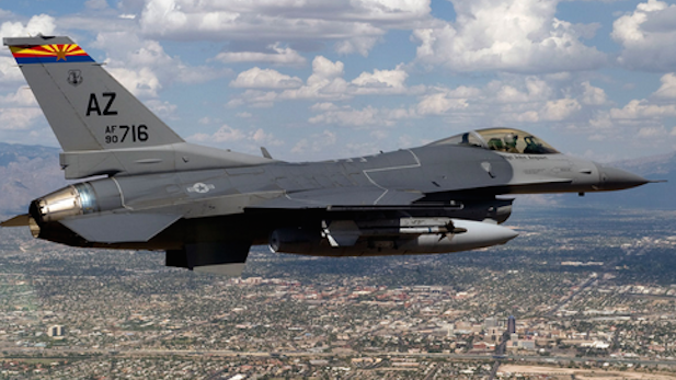 F-16 from the 162nd Fighter Wing, based in Tucson.