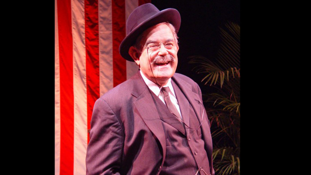 "Laurence Luckinbill as Theodore Roosevelt in the one-man show ""Teddy Tonight!"""