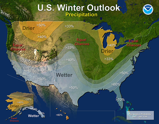 Winter Precipitation El Nino larger spot