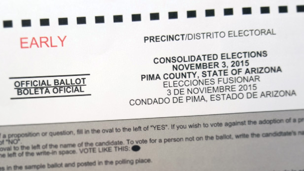 Election Voting Ballot Tucson Pima County spot 2