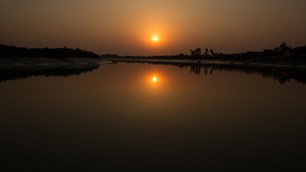 SUNSET, MANGROVES, SUNDARBANS, BANGLADESH