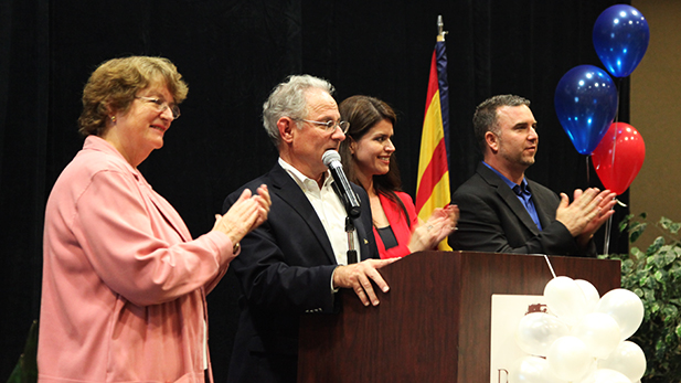 Democratic incumbents Shirley Scott, Jonathan Rothschild, Regina Romero and Paul Cunningham celebrated on Tuesday night.