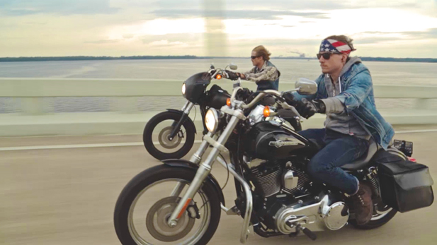 Friends and fellow combat vets Doc King (left) and Daniel Egbert (right/front) set out on a 6,500-mile motorcycle journey to raise awareness about veteran suicide and to explore treatment options for post traumatic stress.