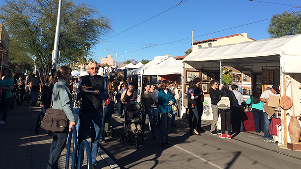 The Winter 2015 Fourth Avenue Street Fair.