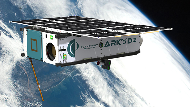 Artist's rendition of Planetary Resources, Inc.'s Arkyd 6 asteroid exploration spacecraft.