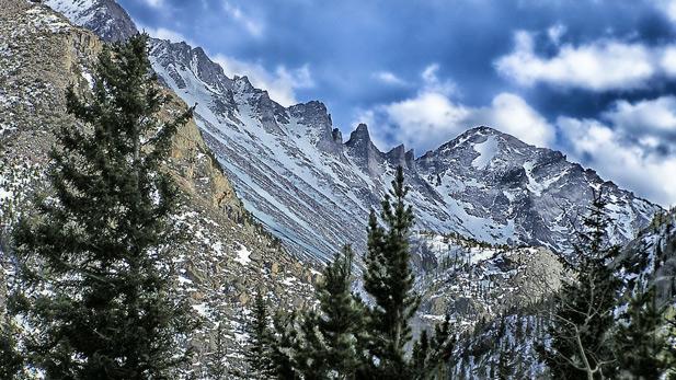 Snow on the Colorado Rockies