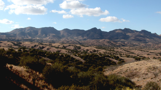 Site of the proposed Rosemont copper mine, looking west from Highway 83.