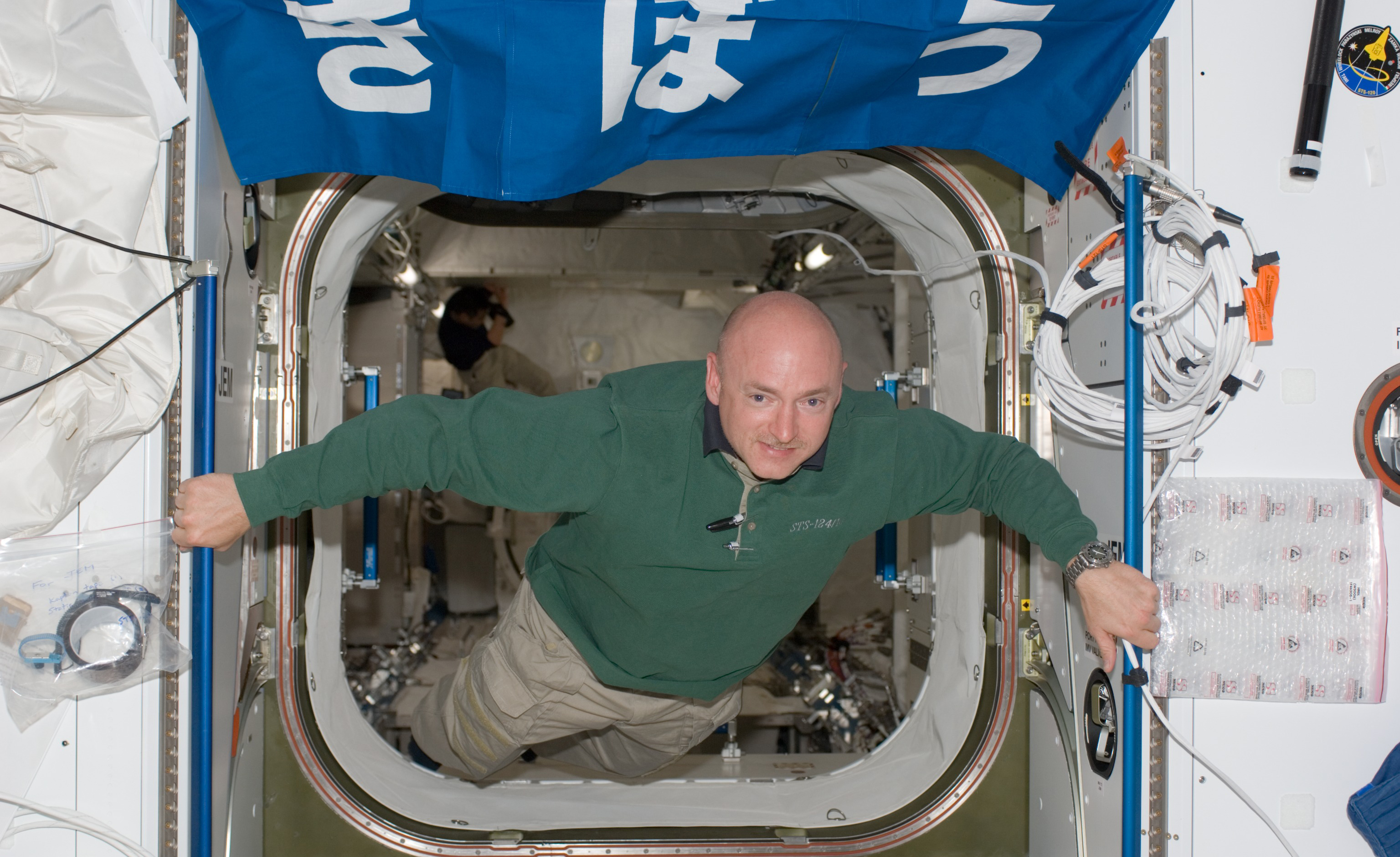 Mark Kelly on ISS focus large