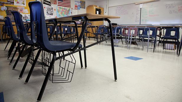 Generic Classroom Education Desks Spotlight