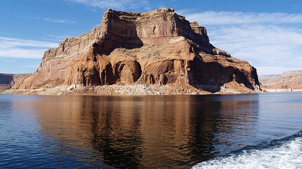 Rock formations at Lake Powell, AZ