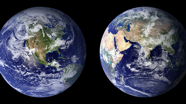 Earth Front and Back