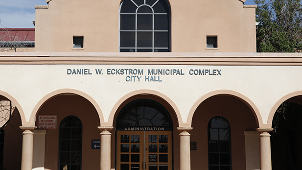South Tucson City Hall is pictured on April 2, 2015.