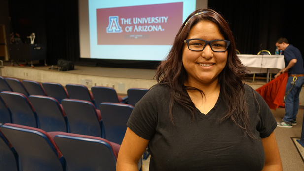 22-year-old Ana Rodriguez asked the Arizona Board of Regents to grant in-state tuition to DACA recipients like herself.