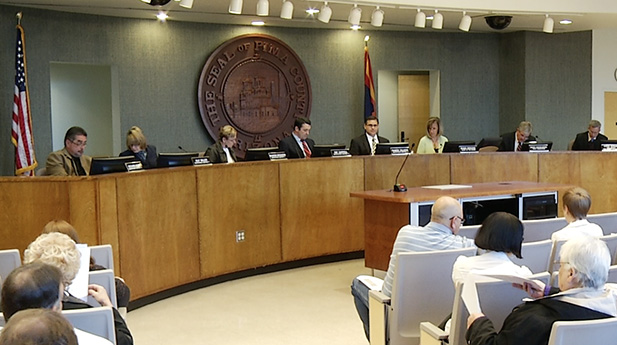 Pima County Board of Supervisors at a meeting in early April 2015.