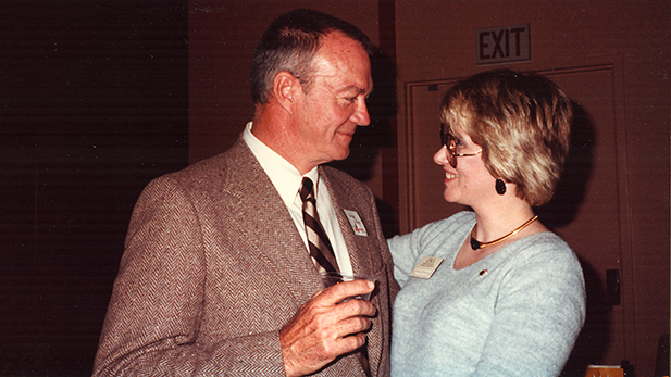 Wayne and Peggy Collins between 1986 and 1988.