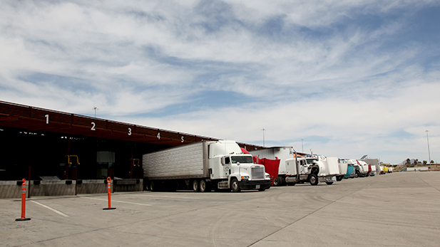 Commercial trucks inspected at the Mariposa Port of Entry. (2015)