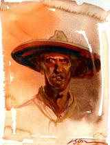 billy demon eyes by bob boze bell portrait