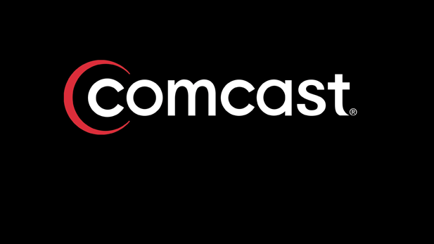Comcast Logo on a black field, from May 2015.