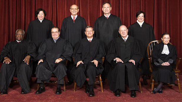 The nine justices of the U.S. Supreme Court.