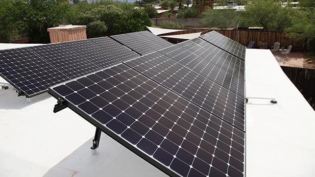 solar post install spot