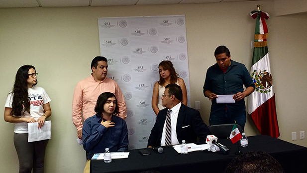 Mexican consul in Tucson holds press conference calling DACA a 'success' on its three-year anniversary.