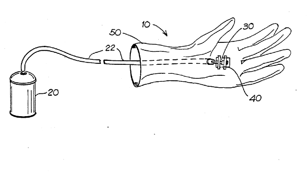 Tucsonan Stephen Kimble's drawing for his Spider-Man 'web-shooter' toy, patented in 1990.